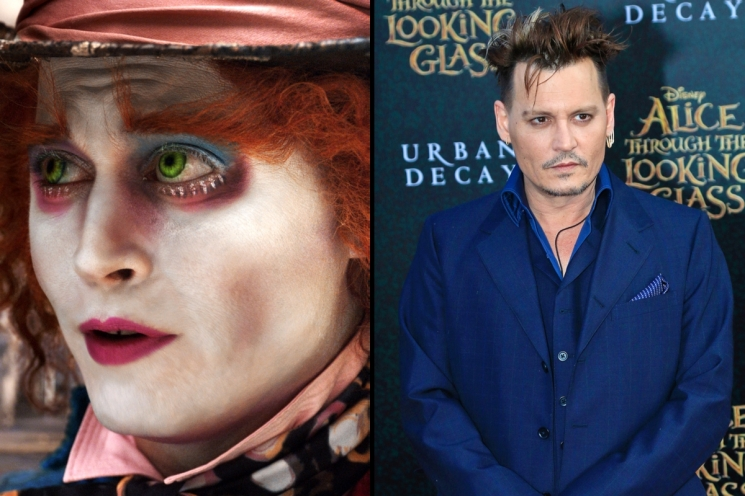 Johnny Depp sebagai Mad Hatter di film Alice In Wonderland from vanityfair.com