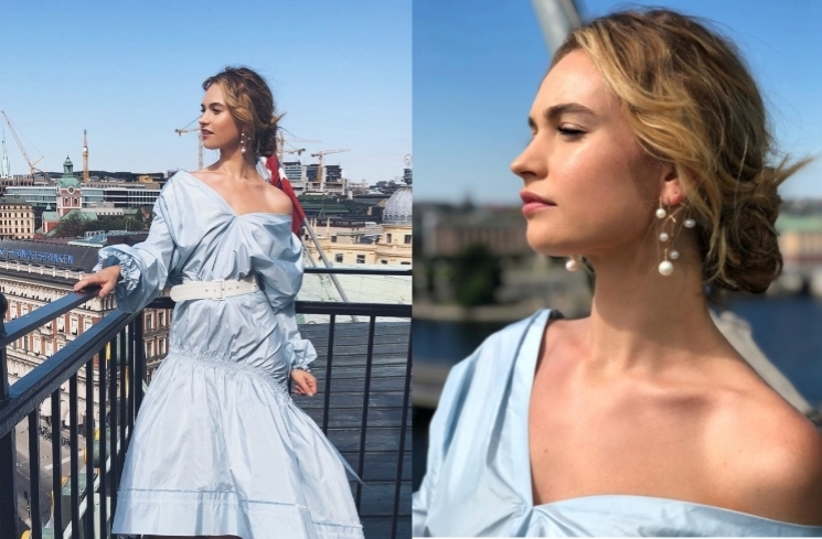 Lily James/ Kolase Instagram