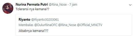 Rina Nose vs Netizen.[Twitter]