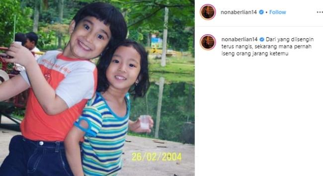 Bio One dan Nona Berlian. (Instagram/@nonaberlian14)