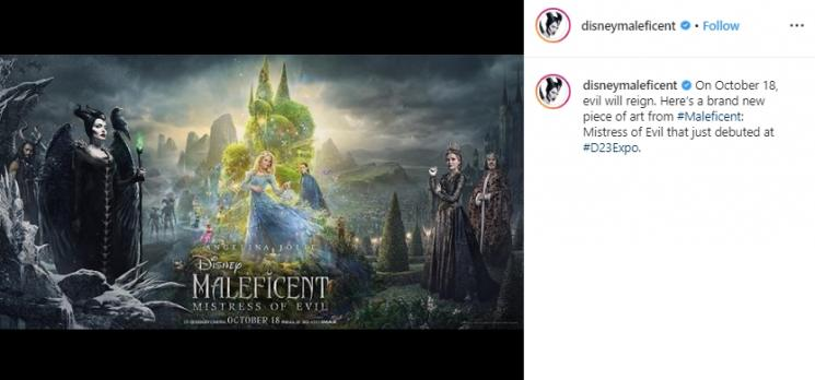 Fakta menarik film Maleficent 2 (Instagram/@disneymaleficent)