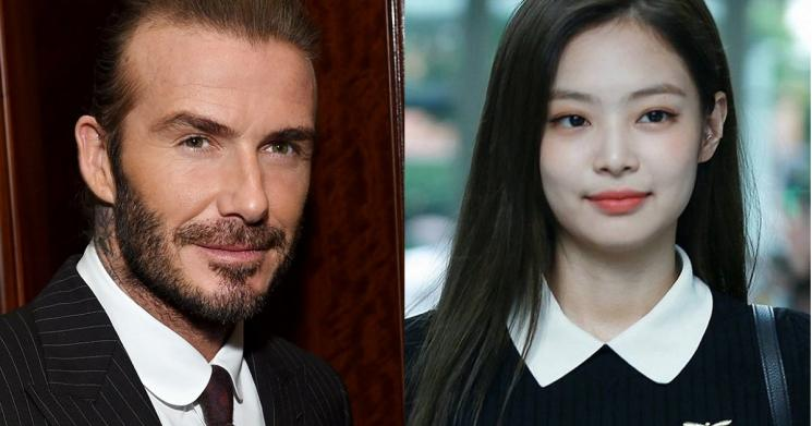 Jennie BLACKPINK dan David Beckham (Koreaboo)