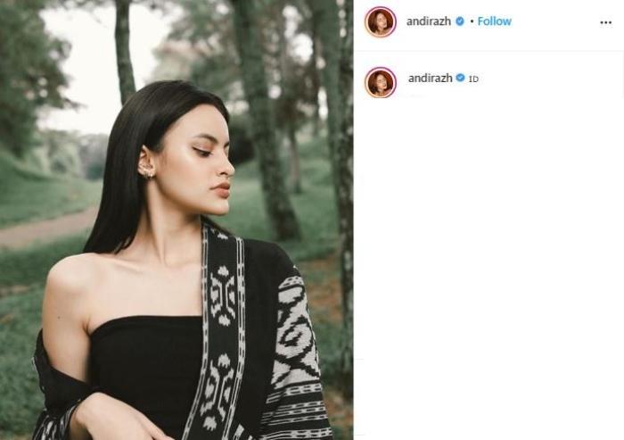 Andira Hadley, disebut calon istri Bisma Karisma. (Instagram/@andirazh)