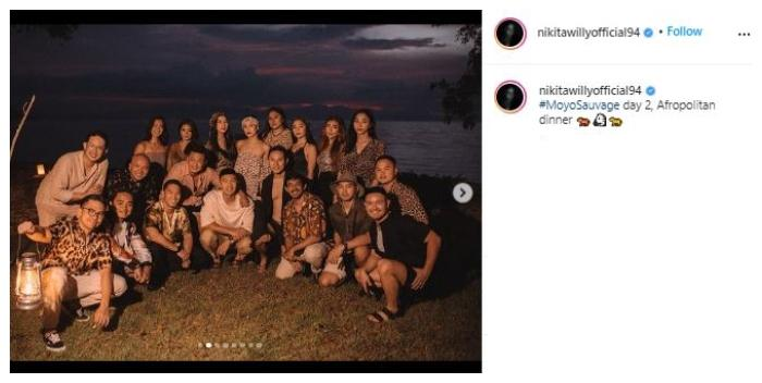 Nikita Willy adakan wedding after party. (Instagram/@nikitawillyofficial94)