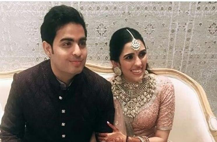 Akash Ambani dan Shloka Mehta (Instagram/@shloka_mehta_official)
